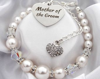 Mother of the Groom  Bracelet mother of the groom gift mother of the groom wedding jewelry gift for mother of the groom mother in law gift