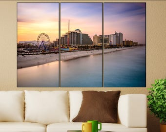 Daytona Beach, Florida  canvas Daytona Beach skyline wall decoration Daytona Beach canvas art Daytona Beach large canvas
