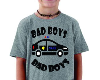 Police, Bad Boys Bad Boys, Whatcha gonna Do.....for your little one. 6m-5/6. Such a cute police shirt for your little guy  Love the 911