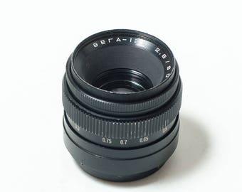 Vega-12B 2.8/90 mm USSR medium format lens, Soviet Kiev-6C/Kiev-60, Pentacon 6. EXCELLENT+