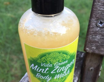 Luxurious Vegan Mint Body Wash | Shower Wash | Mint Bath Wash | Cruelty free Body Wash | Essential Oil Wash | Liquid Soap | Gift for her