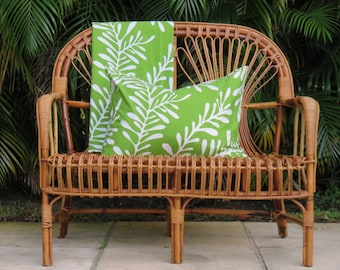 Mid-Century Modern Rattan Bench/Loveseat In The Manner Of Franco Albini.