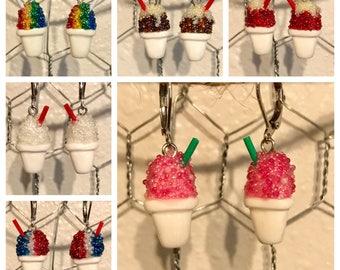 Snowball Hanging Earrings