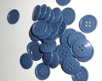Buttons blue batches of 50 buttons