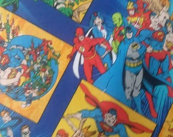 DC Comic Super Heroes Cotton Fabric by the Yard