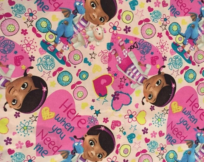 Doc McStuffins Cotton Fabric by the Yard