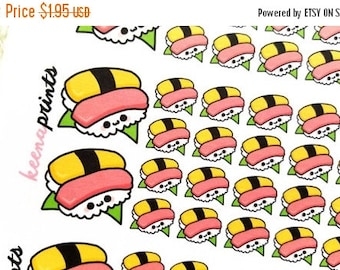 20% OFF A193 | SUSHI Stickers - Daily Planner Stickers, Diary Stickers, Journal Stickers, Scrapbook stickers