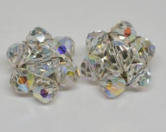 Plastic Sparkling Crystal Earrings