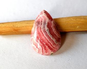 Natural Rhodochrosite 32.5 Cts Gemstone Loose Cabochon Pink Rhodochrosite Pear Shape 27x18x7 MM R13371
