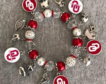 Oklahoma Sooners NCAA Bracelet