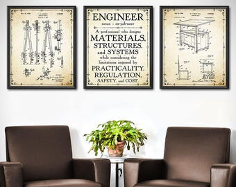 Attirant Engineer Gift   SET OF 3   Engineer GIfts   Gift For Engineer   Mechanical  Engineering