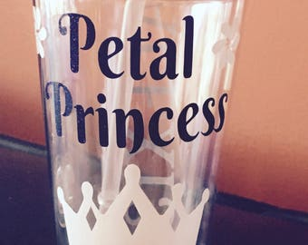 Personalized Petal Princess Flower Girl 16 oz. Clear Tumbler, Bridal Party Gifts, Flower Girl Gifts,