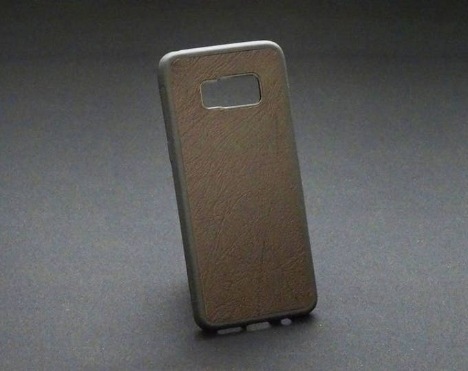 Samsung Galaxy S8 - Jimmy Case in Rich Brown Texture - Kangaroo leather - Handmade - James Watson