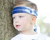 BoyBand / Boy Tie-On Headband / Tie-dye Headband / Boy Hair Accessories / Blue Headband / Boys Headbands / Baby Boy Band / Warrior Band