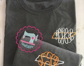 Tennessee Monogram t-shirt, VOLS monogram t-shirt, Rocky Top Monogram t-shirt