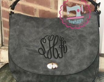 Monogrammed Buckle Hobo Purse, monogrammed handbag, personalized purse, new fall bag