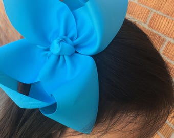 Big Turquoise Bow, Big Turquoise Hairbow, Big turquoise hair bow, big hair bow, Big Bows, Big Hairbows for girls, Big hair bows for toddles
