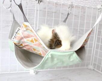 Rat Bunk Bed - 2-Tier Hammock - Sugar Glider Honeycomb - Pet Hammock - Rat Cage Accessories - Ferret Cage - Pet Bedding - Boho Heart