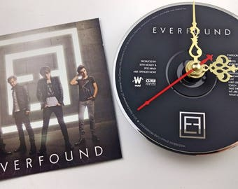 CD Clock Everfound Handmade Clock FREE U.S. SHIPPING Unique Birthday Present Gift