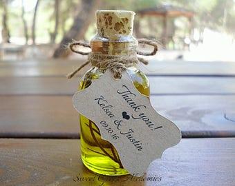 50 pcs Favorite Olive Oil Favors (25ml / 0.85oz), Olive Oil Wedding Favors, Olive Oil Baby Shower Favors, Olive Oil Bridal Shower Favors,