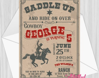 Printable Cowboy Party Invitation | Personalized