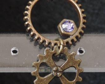 """Steampunk earrings """"Light - purple"""""""