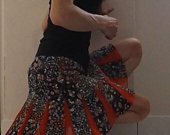 "Umbrella skirt ""Elisa"" crepe and net Bohemian romantic Sanlivine"