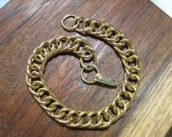 Lovely Gold Link Chain Bracelet 7.75 inches