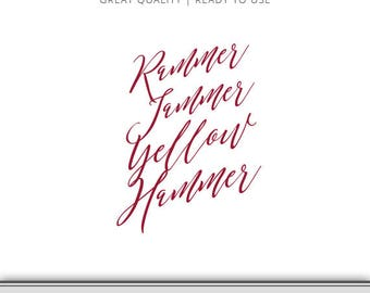 Rammer Jammer Yellow Hammer Alabama Roll Tide State Graphic - Digital Download - Alabama SVG - Bama SVG - Alabama Cut File Ready to Use!