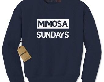 Mimosa Sundays Brunch Adult Crewneck Sweatshirt