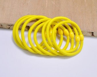 20pcs Mini ponytail holders,lemon ponytail elastics cord with plastic ties,hair elastics,4mm thick hair ties,pigtail holders.