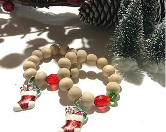 Christmas stocking bracelet