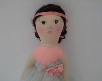 Ballerina Doll, Handmade Ballerina, Small Art Doll, Ballerina Art Doll, Little Ballerina, Doll Gift, Ballet Doll, Ballet Art Doll