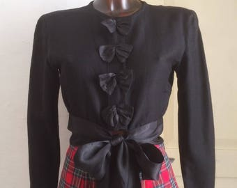 Vintage black shirt with bows