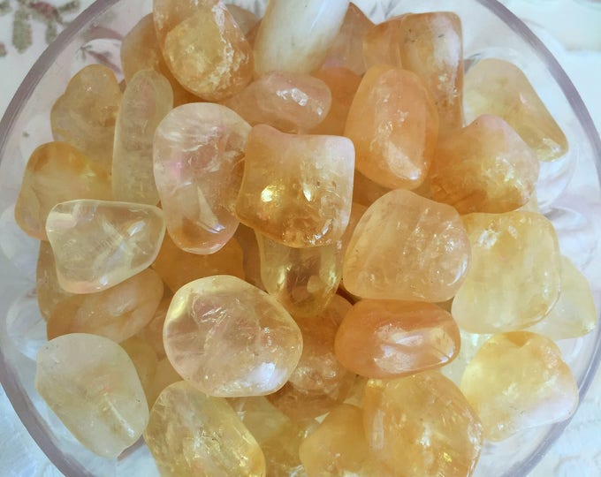 Wholesale Crystals 10 Citrine Stones, Crystal Grid, Meditation