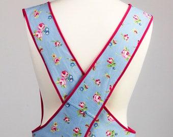 Cross Back Apron - Japanese Apron - Kitchen apron - Floral apron
