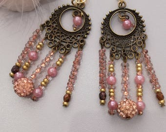 "Earrings ""Bohemian charm"", oriental"