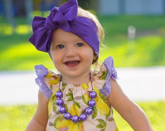 Purple head wrap, baby headwrap, fabric headwrap, newborn headwrap, toddler headwrap, turban headwrap, headwrap, purple headband