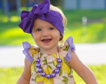 Purple head wrap, baby headwrap, fabric headwrap, newborn headwrap, toddler headwrap, turban headwrap, headwrap, purple headband