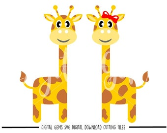 Giraffe svg / dxf / eps / png files. Digital download. Compatible with Cricut and Silhouette machines. Small commercial use ok.
