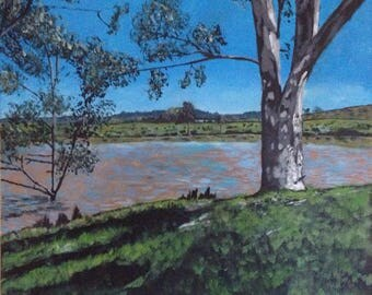 Original painting, acrylic painting, Australian landscape painting, popular art, painting from an Australian artist, canvas art