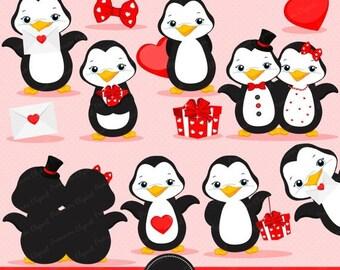 Cute penguin clipart | Etsy | {Französische küche clipart 34}
