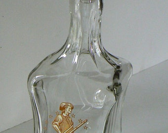 Old Fitzgerald Collection Liquor Bottle, Old Fitzgerald Liquor Decanter, Original Stopper, Vintage Liquor Decanter
