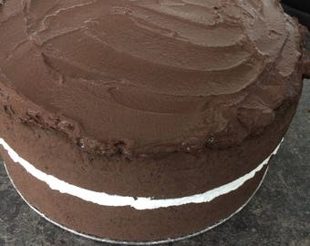Fake 8in chocolate fudge cake