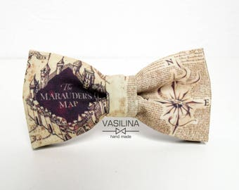 Marauders map Bow tie the marauders map, Gryffindor, Harry Potter bowtie