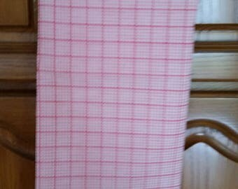 Red and white plaid fabric