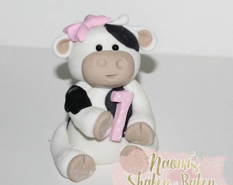 Cow Edible Cake Topper