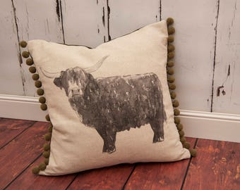 Billy Boy Highland Cow Cushion