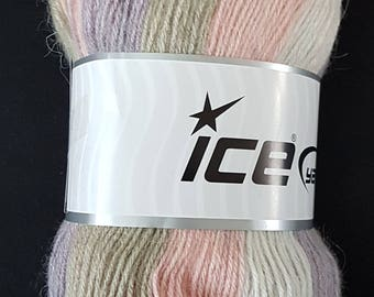 Ice yarn Angora print 100 g