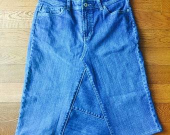 Womens Sz 0 Refashioned Jean Skirt